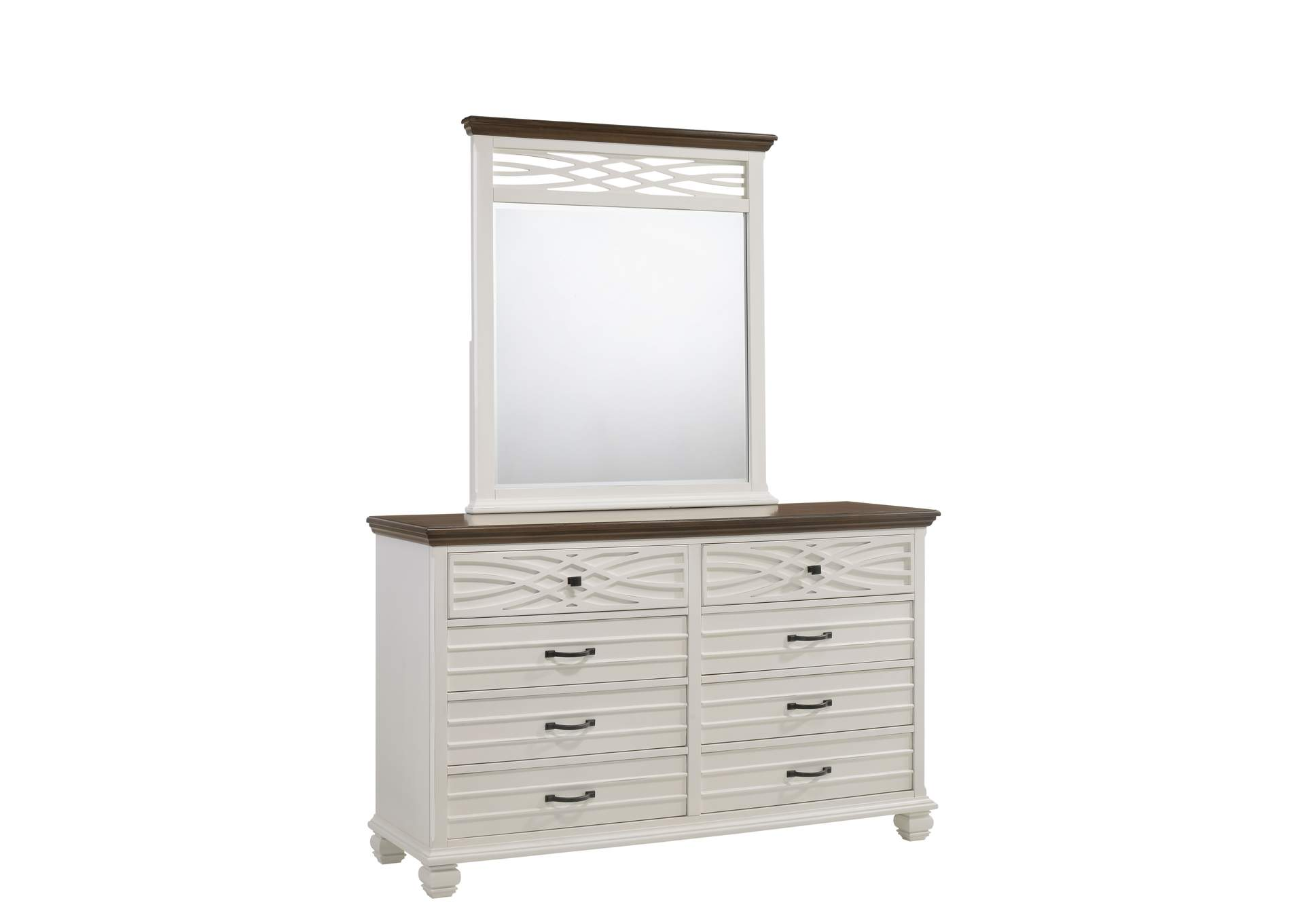 1058 Bellebrooke White Mirror