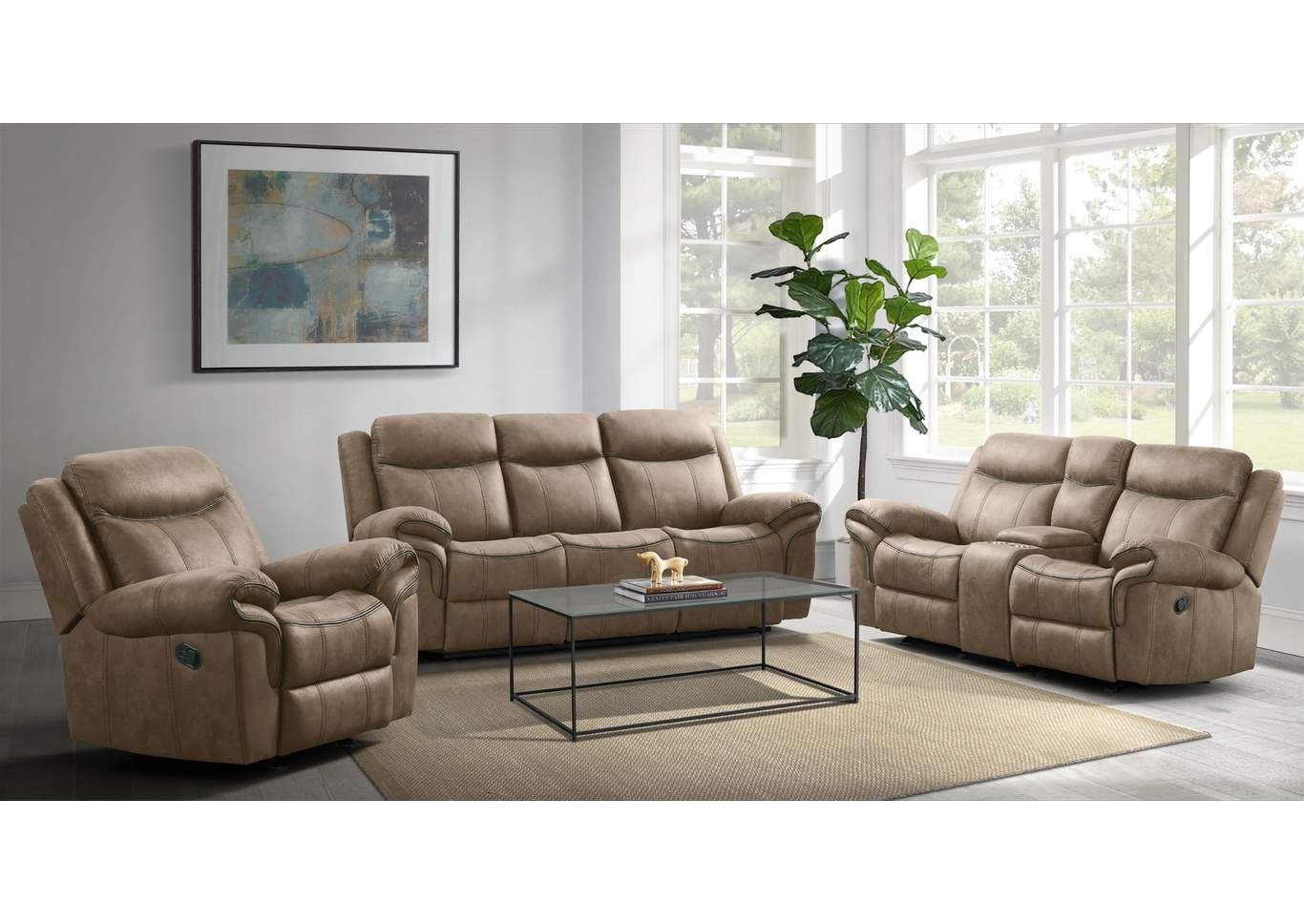 59928 Delgado Power Reclining Glider  Loveseat